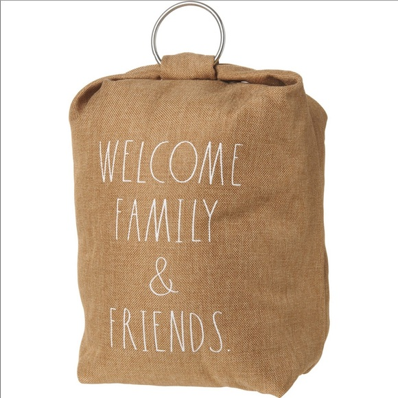 Rae Dunn Welcome Family and Friends door stop